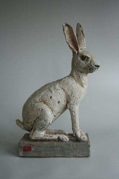 Hasenskulptur Keramik von Andreas Hinder