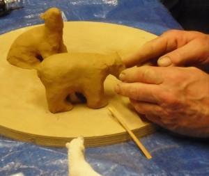03 Keramikkurs mit Andreas Hinder - die Modelle werden fertig